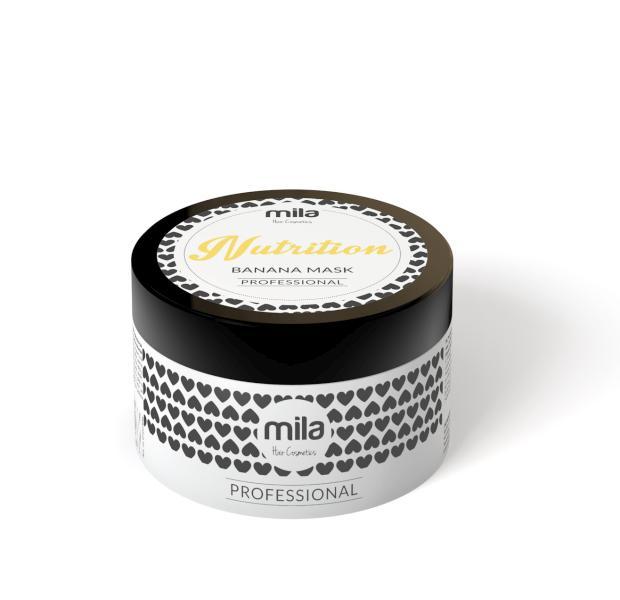 Vyživující maska pro suché vlasy Mila Hair Cosmetics Nutrition - banán, 250 ml (0102306)