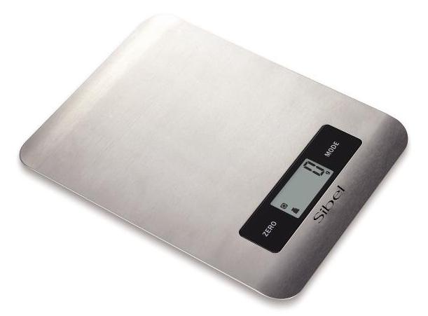 Víceúčelová nerezová váha Sibel Steel Style II - max 2000 g (0002004) + DÁREK ZDARMA