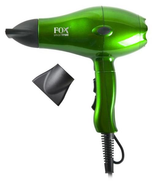 Profesionální fén Fox Smart Front ionic - 2100 W, metalický zelený (1303051, 2741069) + DÁREK ZDARMA