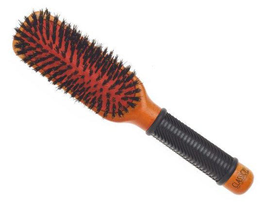 Dřevěný kartáč na vlasy Sibel CLASSIC 24 s kančími štětinami (8455062) + DÁREK ZDARMA