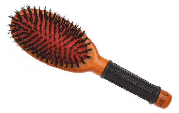 Dřevěný kartáč na vlasy Sibel CLASSIC 23 s kančími štětinami (8455052) + DÁREK ZDARMA