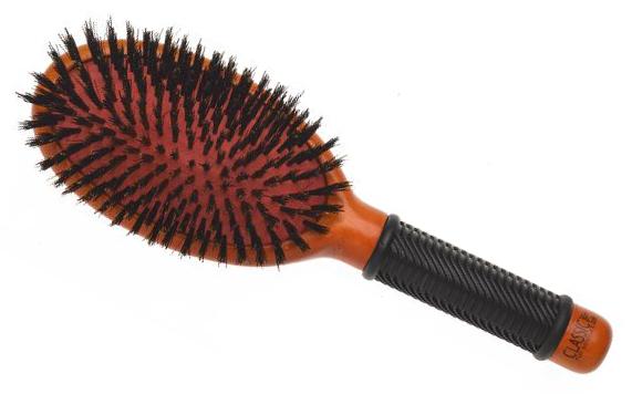 Dřevěný kartáč na vlasy Sibel CLASSIC 22 s kančími štětinami (8455042)