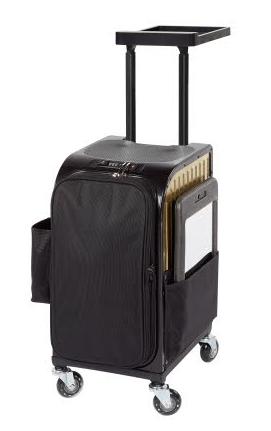 Kadeřnický kufr Sibel Rollercoaster Stoolcase Gold - zlatý (020060133) + DÁREK ZDARMA