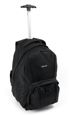 Cestovní batoh s teleskopickou rukojetí Sibel Backpack - černý (0150781) + DÁREK ZDARMA