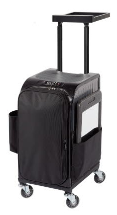 Kadeřnický kufr Sibel Rollercoaster Stoolcase Titanium - šedý (020060132) + DÁREK ZDARMA