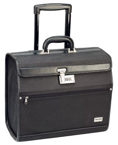 Kadeřnický kufřík s teleskopickou rukojetí Sibel Pilotrol - černý (0150651) + DÁREK ZDARMA