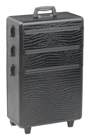 Sekční kufr na kolečkách Sibel Modular - černý (0150631) + DÁREK ZDARMA