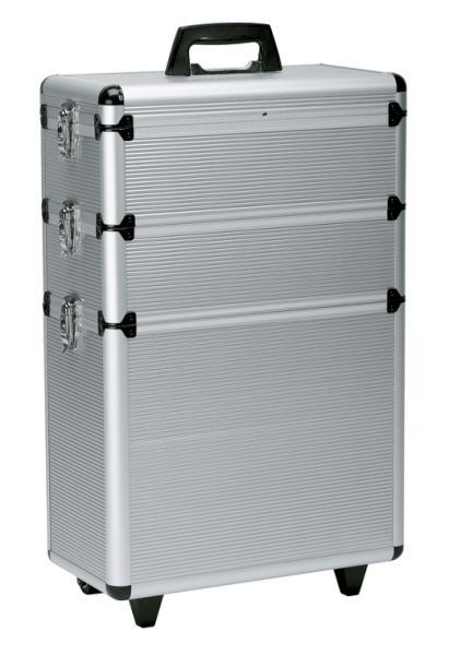 Sekční kufr na kolečkách Sibel Modular - stříbrný (0150431) + DÁREK ZDARMA