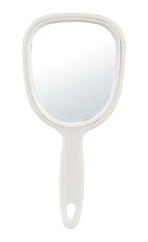 Kosmetické zrcátko s rukojetí Sibel - 13,3 x 28 cm, bílé (0130871)