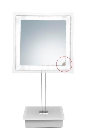 Zrcátko s osvětlením Sibel Riga 5x zvětšovací - kaz na zrcadle (4430405) + DÁREK ZDARMA