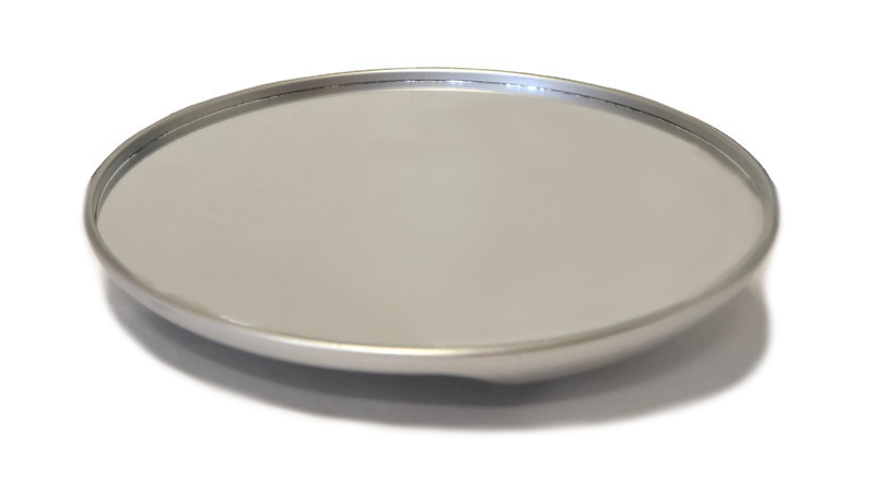 Kruhové zrcadlo Mila - 28 cm, stříbrné (0065312) + DÁREK ZDARMA