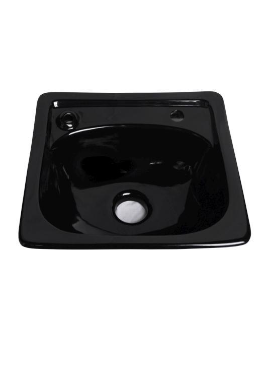 Keramické umyvadlo pro Barber salony Detail DHS033 - černé (DHS033black) + DÁREK ZDARMA