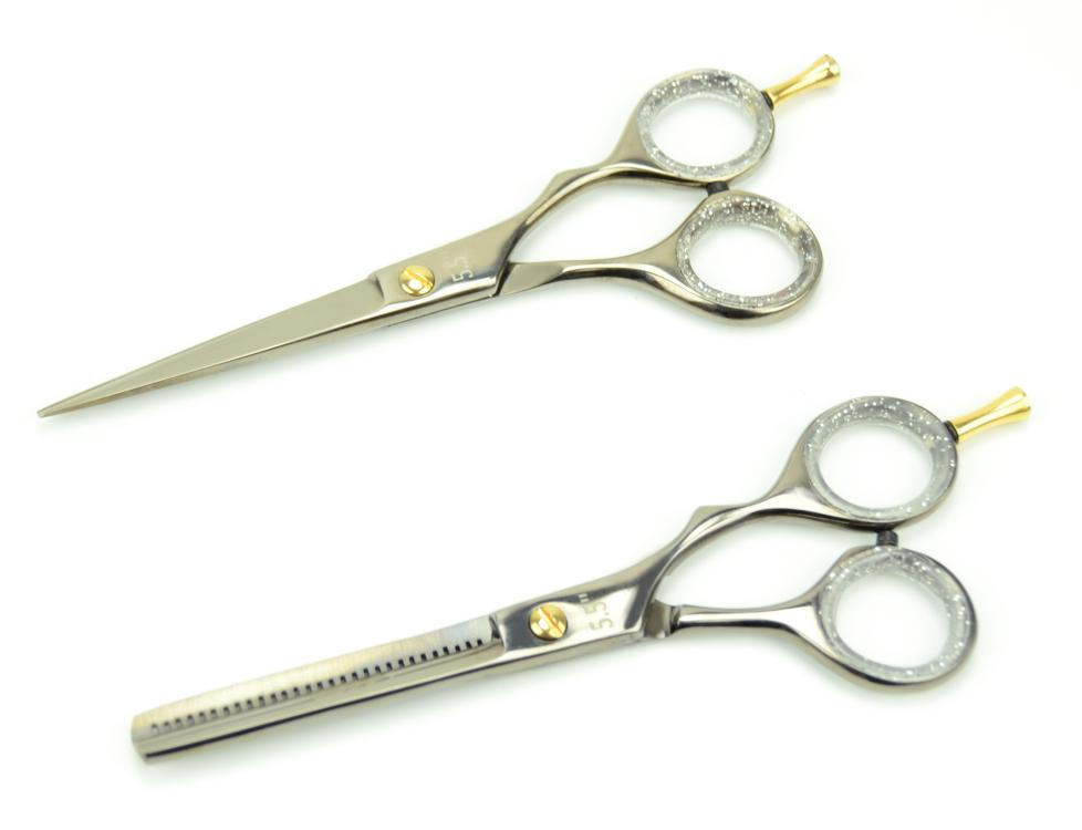 """Sada nůžek Detail 5,5"""" + efilační nůžky DHS-VI-SPB-0013 + DÁREK ZDARMA"""