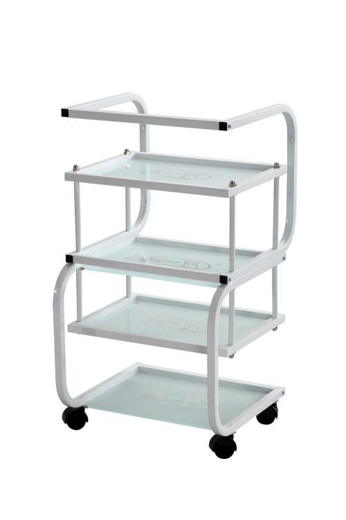 Kosmetický stolek na kolečkách SilverFox 1012 - bílý + DÁREK ZDARMA