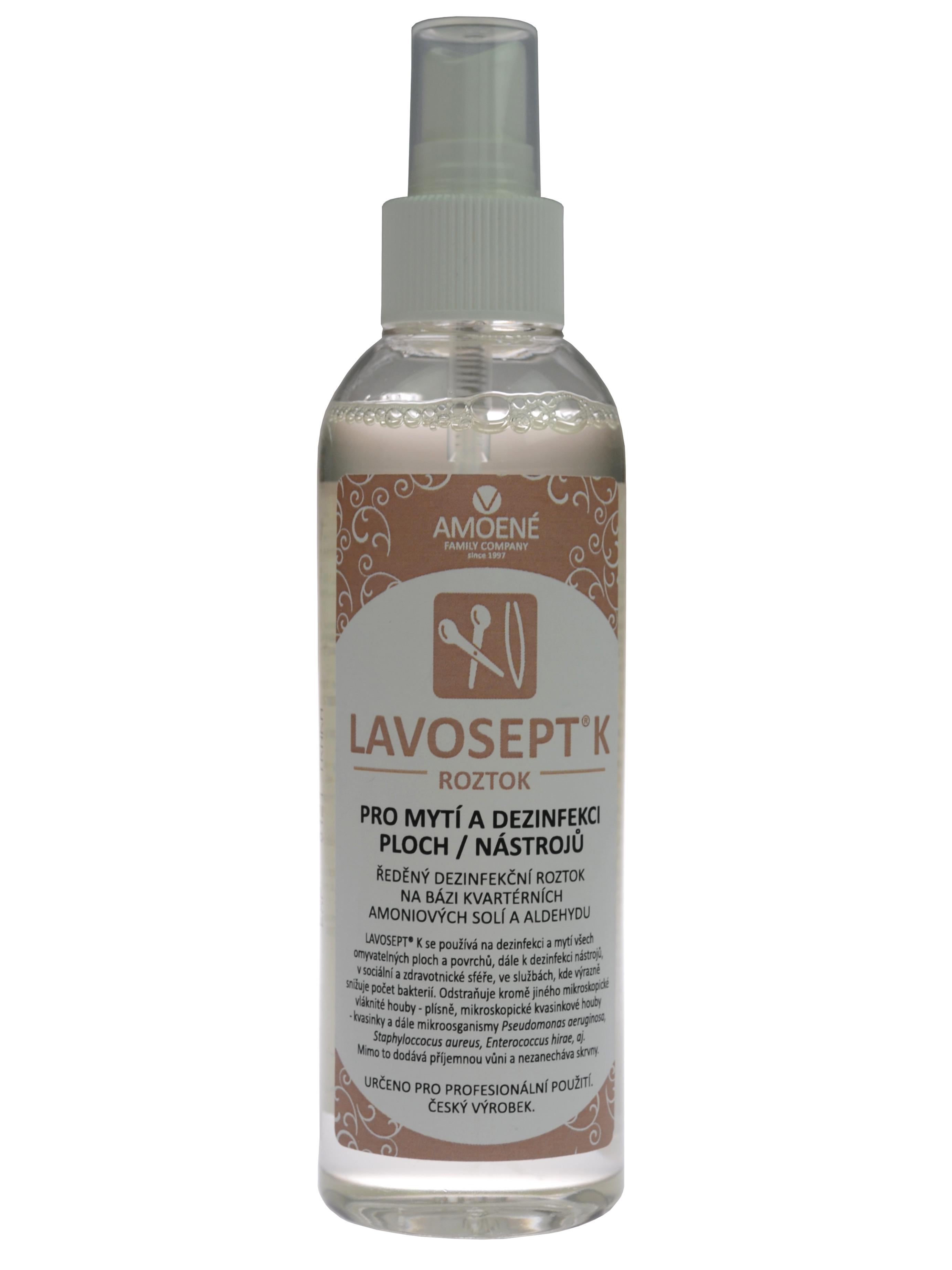 Dezinfekce nástrojů a ploch ve spreji Amoené Lavosept - trnka - 200 ml (0132T2M200)