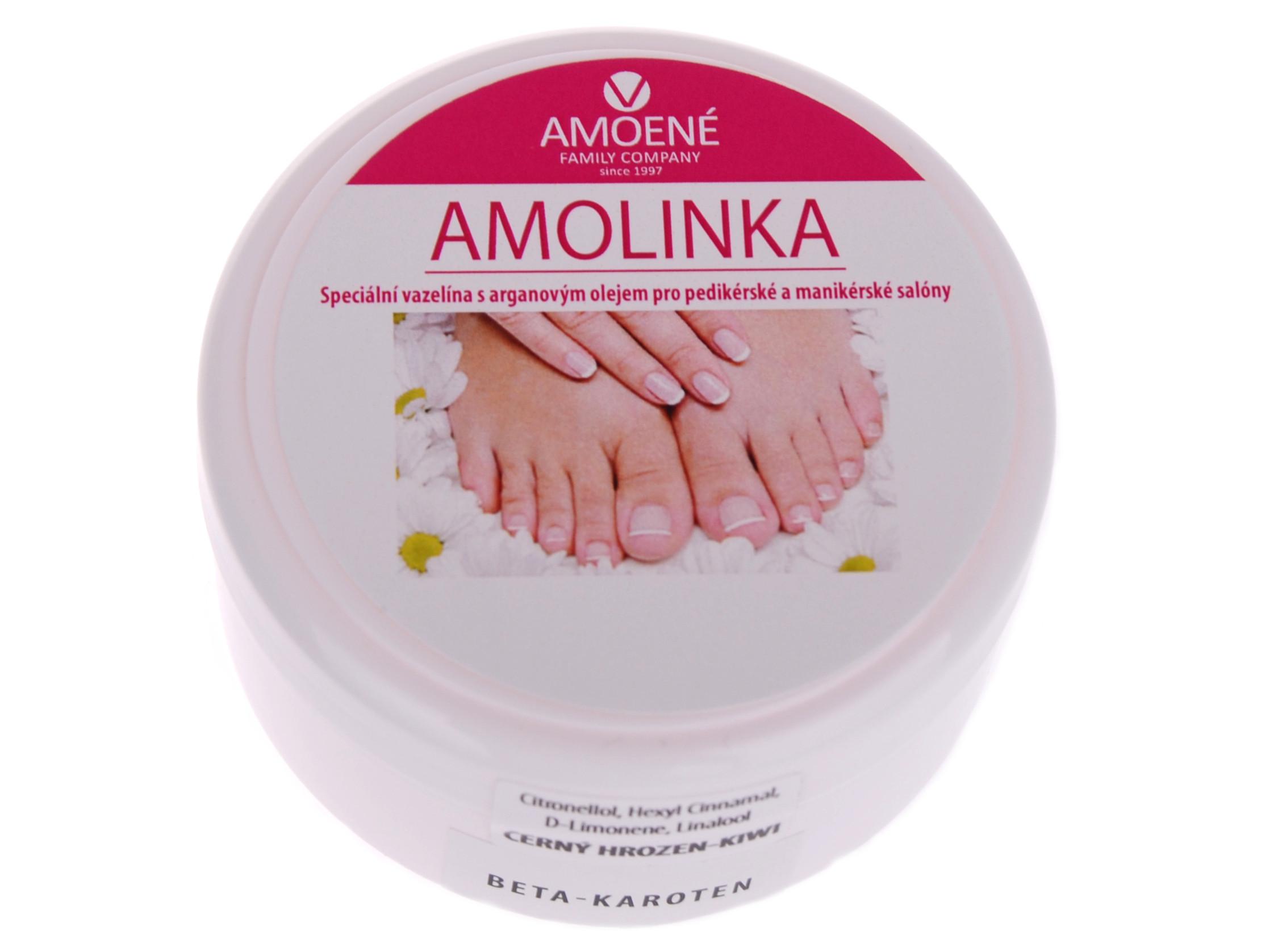 Kosmetická vazelína Amolinka černý hrozen s kiwi a beta karotenem, Amoené 100 ml (012A0GW10B- cernyhrozen,kiwi)