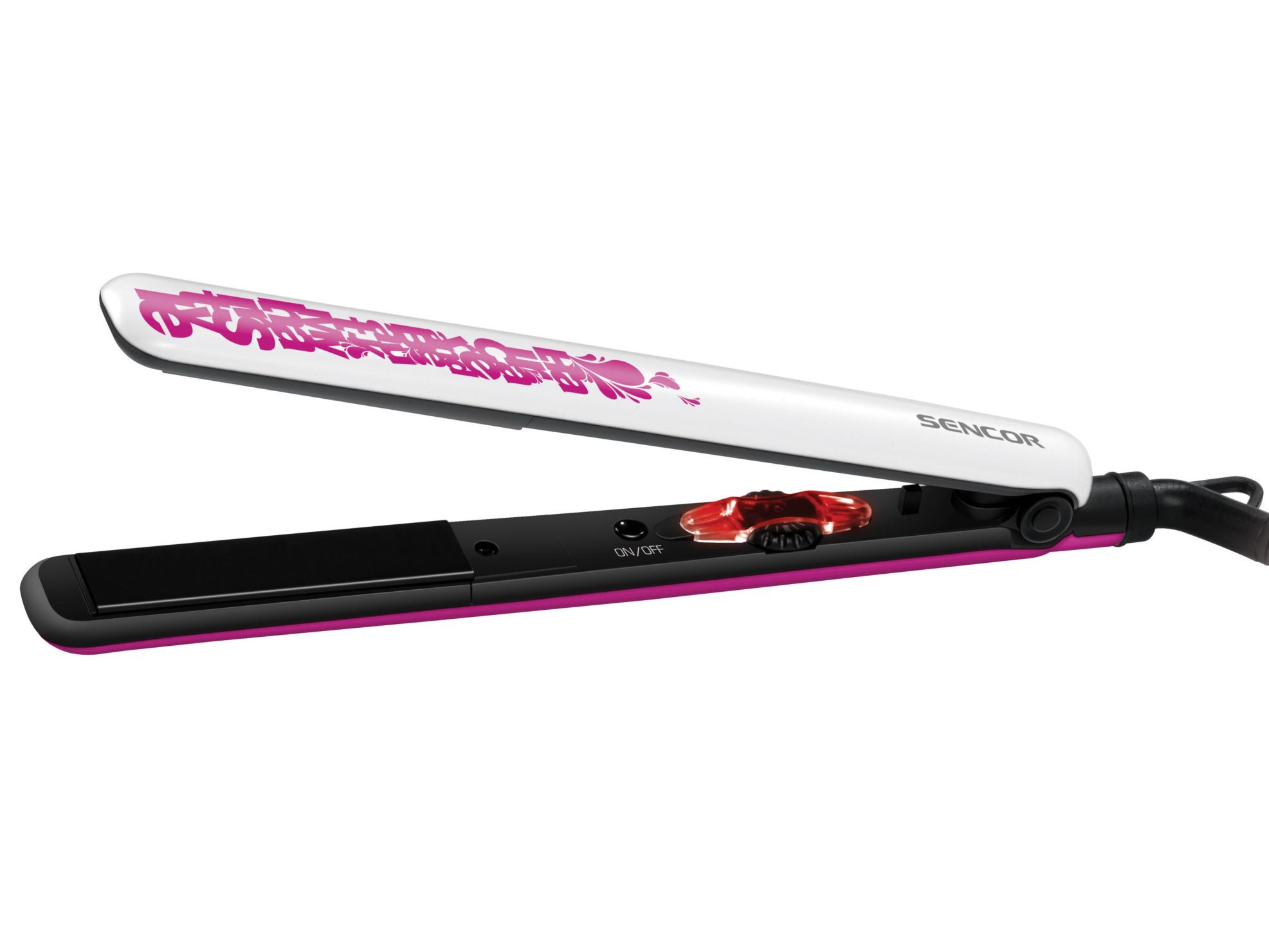 Žehlička na vlasy Sencor SHI 781VT - růžovo-bílá + DÁREK ZDARMA