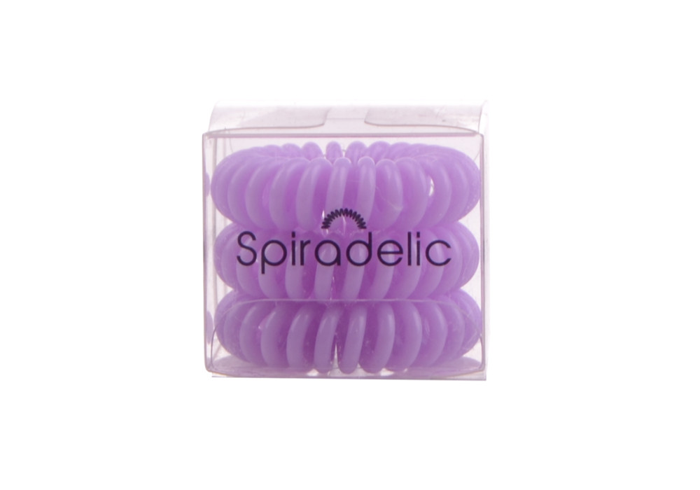 Spirálová gumička do vlasů Sibel Spiradelic, světle fialová - 3 ks (660051300-violet)