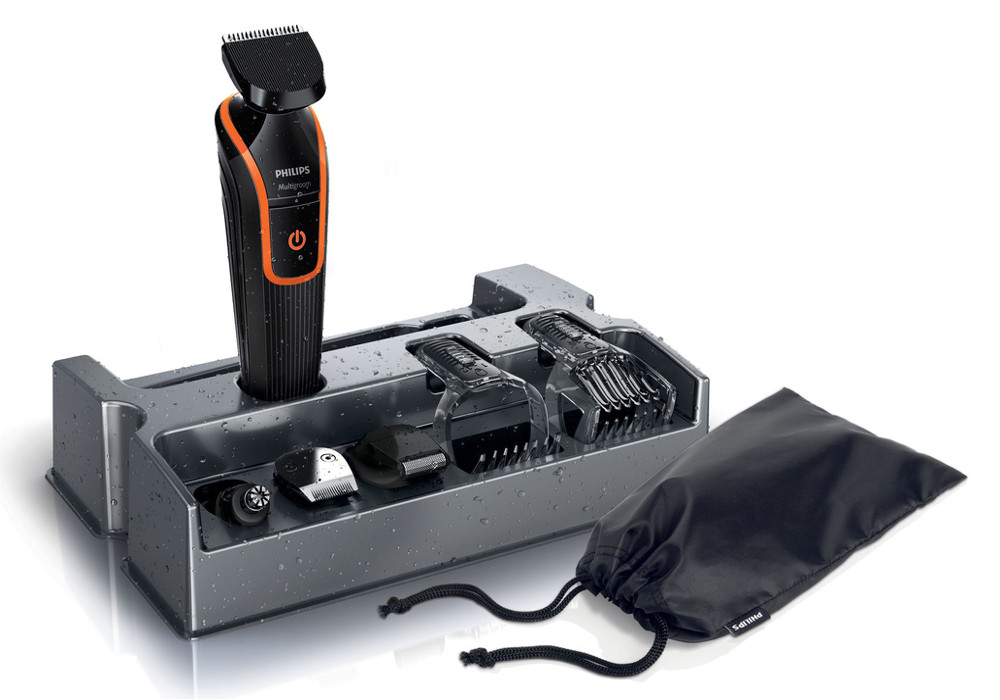 Zastřihovač vlasů a vousů 7v1 Philips QG3340/16 - černý + DÁREK ZDARMA