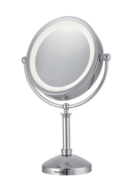 Oboustranné kosmetické zrcátko - 3x zvětšovací, Sencor (SMM 3080) + DÁREK ZDARMA