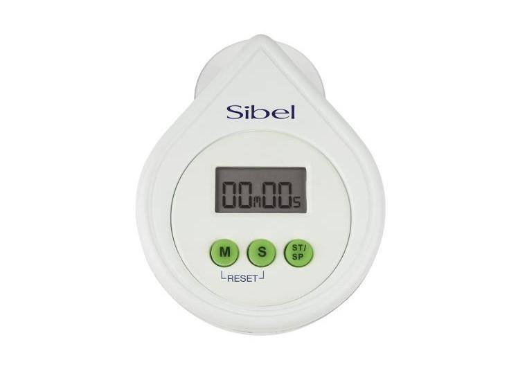 Digitální časovač / minutka s alarmem Sibel - bílá (009004001)