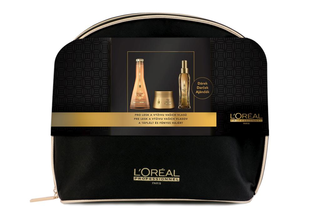 Dárková sada pro lesk a výživu vlasů Loréal Mythic Oil + DÁREK ZDARMA