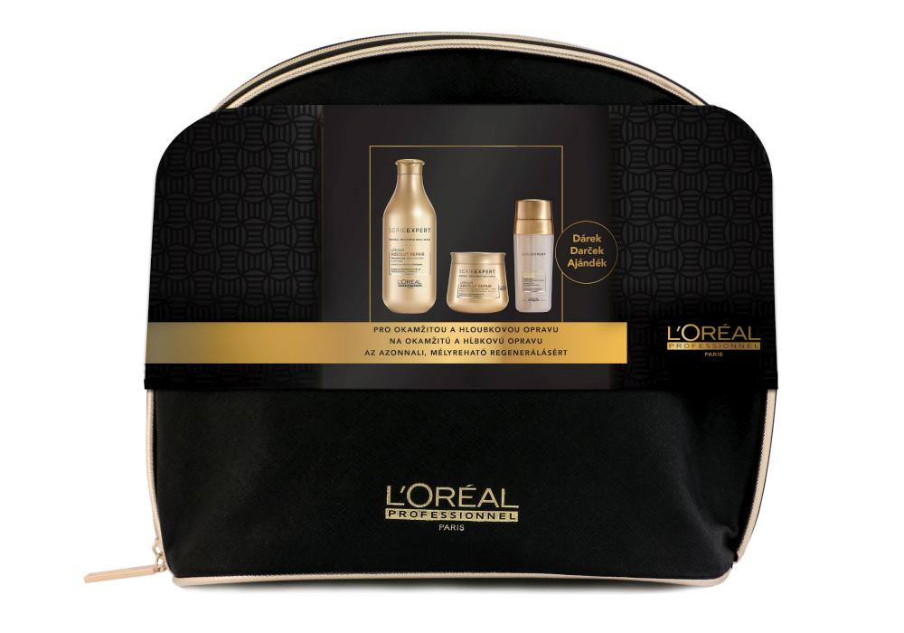 Dárková sada pro hloubkovou opravu vlasů Loréal Absolut Repair Lipidum + DÁREK ZDARMA