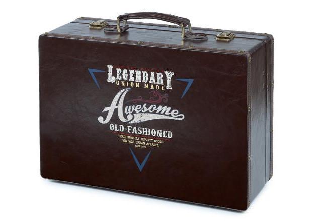 Retro kufr na pomůcky Barburys Sibel - černý (0150050) + DÁREK ZDARMA