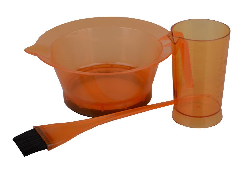 Sada pro barvení vlasů Sibel 3 ks - oranžová (009990122)