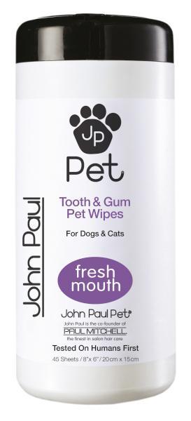 Vlhčené ubrousky pro zuby a dásně Paul Mitchell JP Pet - 45 ks (800041) + DÁREK ZDARMA