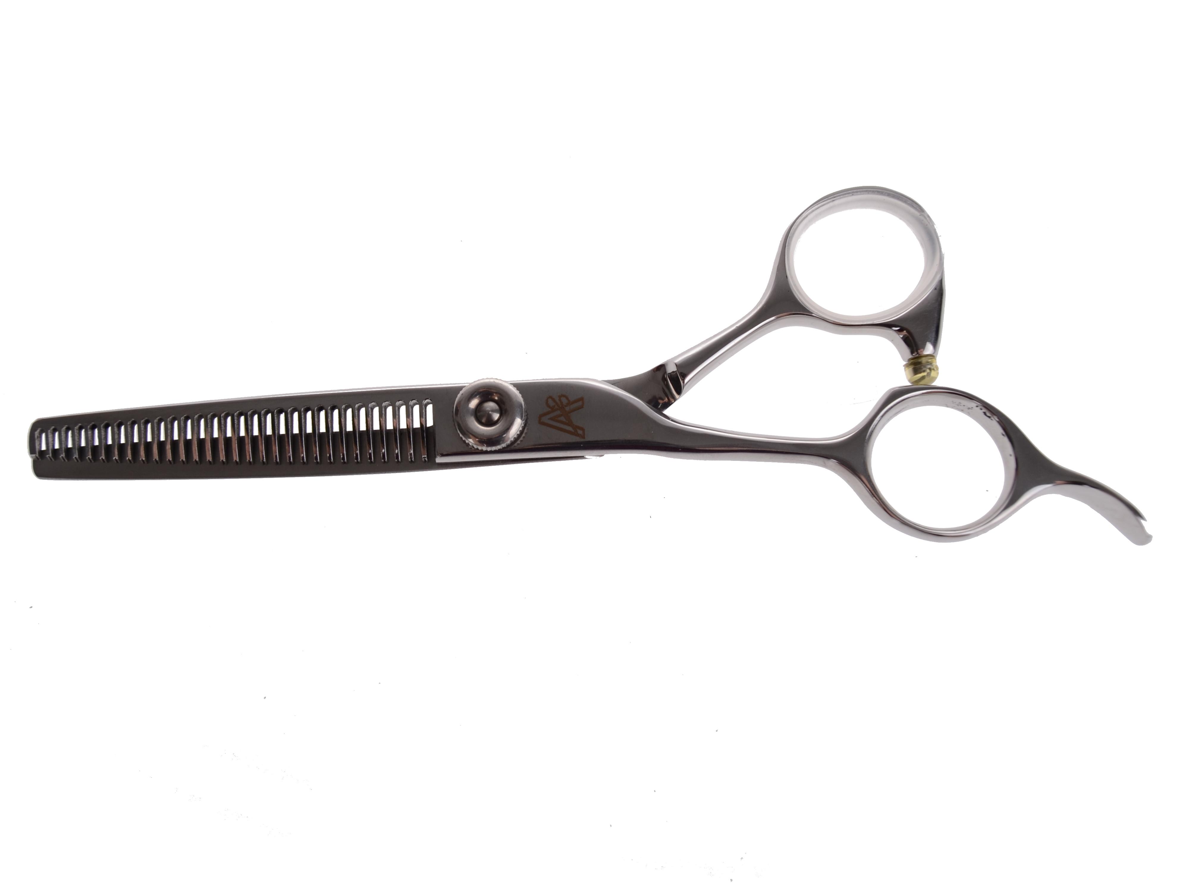"""Kadeřnické efilační nůžky pro leváky Matsuzaki ALF 5530N - 30 zubů, 5,5"""" (800041) + DÁREK ZDARMA"""