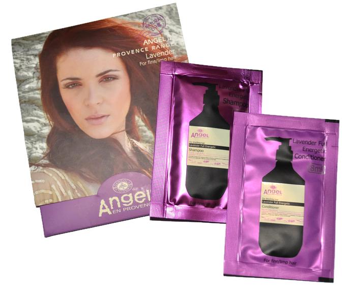Sada kosmetiky pro všechny typy vlasů Angel 2x8 ml - levandule (PL-04-8) - DANCOLY Paris