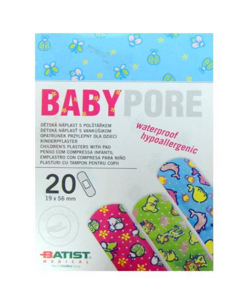 Dětské náplasti Batist Babypore 19 x 56 mm - 20 ks (1320900001)