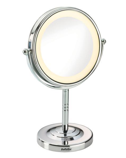 Kosmetické zrcátko s osvětlením Babyliss - 5x zvětšovací (8435E) + DÁREK ZDARMA