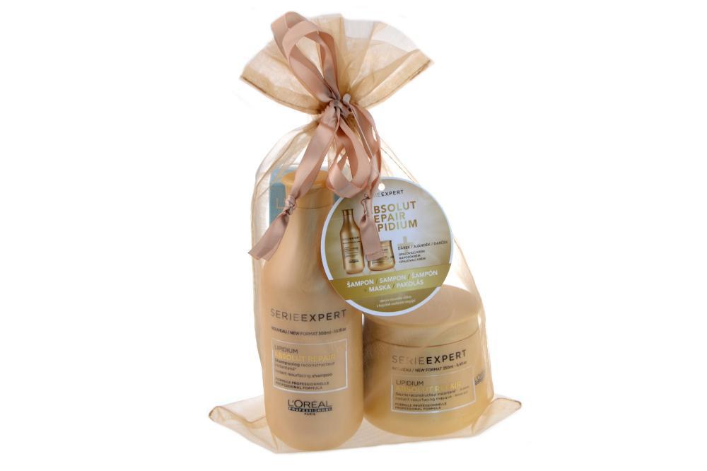 Sada pro poškozené vlasy Absolut Repair Lipidium - šampon, maska + DÁREK - Loréal Professionnel + DÁREK ZDARMA