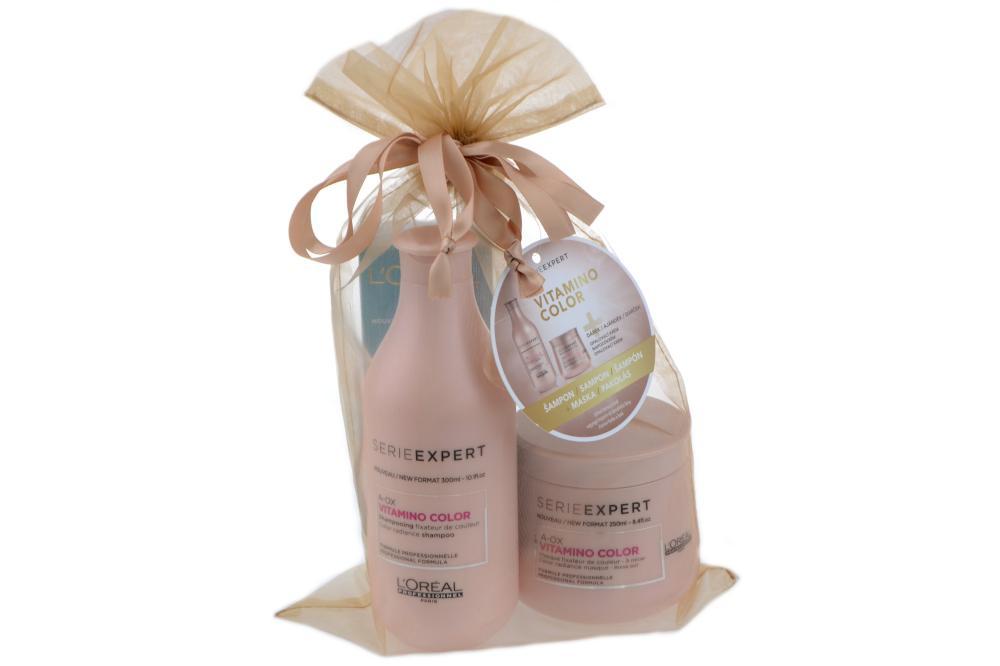 Sada pro ochranu barvy Vitamino Color A-OX - šampon, maska + DÁREK - Loréal Professionnel + DÁREK ZDARMA