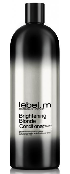 Péče pro rozjasnění blond vlasů Label.m Brightening Blonde - 1000 ml (600495) + DÁREK ZDARMA