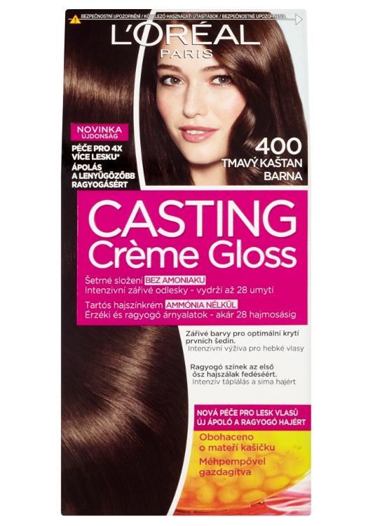 Přeliv bez amoniaku Loréal Casting Créme Gloss - 400 tmavý kaštan