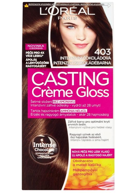 Přeliv bez amoniaku Loréal Casting Créme Gloss - 403 intenzivní čokoládová