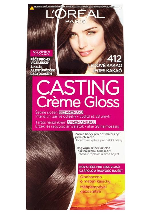 Přeliv bez amoniaku Loréal Casting Créme Gloss - 412 ledové kakao