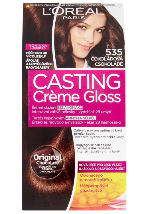 Přeliv bez amoniaku Loréal Casting Créme Gloss - 535 čokoládová