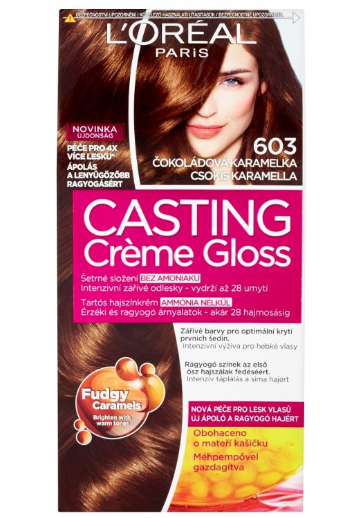Přeliv bez amoniaku Loréal Casting Créme Gloss - 603 čokoládová karamelka