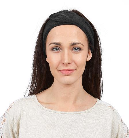 Kosmetická čelenka na suchý zip Sibel, černá (505112402)