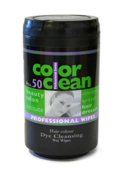 Color Clean ubrousky pro odstranění barvy z pokožky - 50 ks (01633)