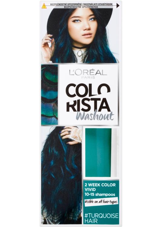 Vymývající se barva Loréal Colorista Washout Turquoise Hair - tyrkysová