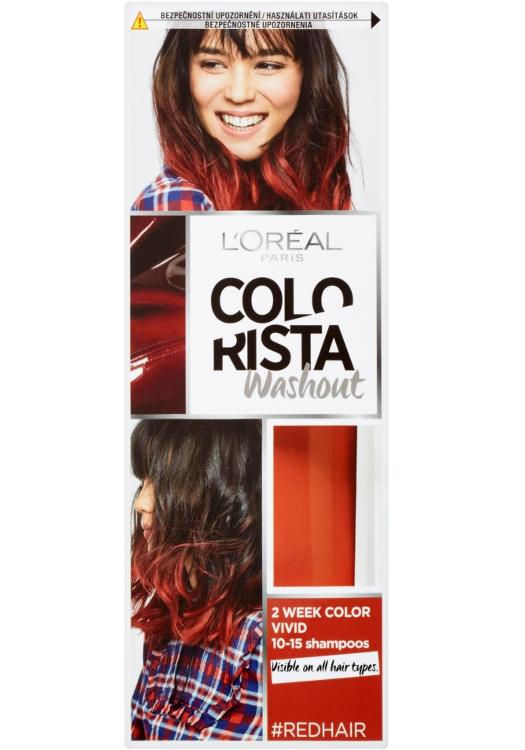 Vymývající se barva Loréal Colorista Washout Red Hair - červená