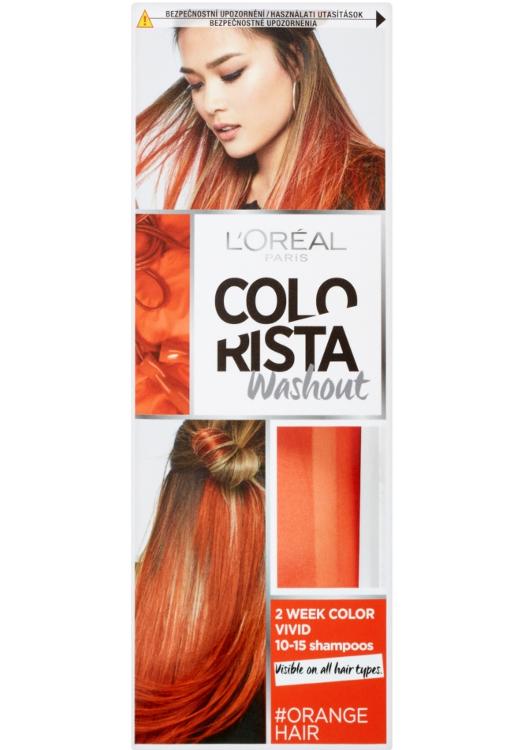 Vymývající se barva Loréal Colorista Washout Orange Hair - oranžová