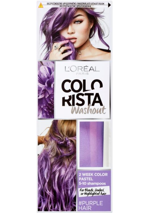 Vymývající se barva Loréal Colorista Washout Purple Hair - fialová