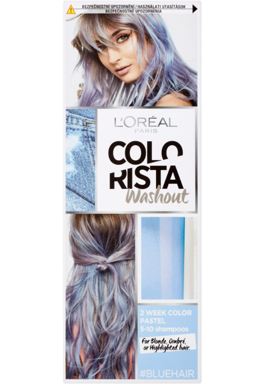 Vymývající se barva Loréal Colorista Washout Blue Hair - modrá