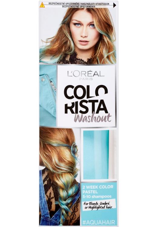 Vymývající se barva Loréal Colorista Washout Aqua Hair - sytá modrá